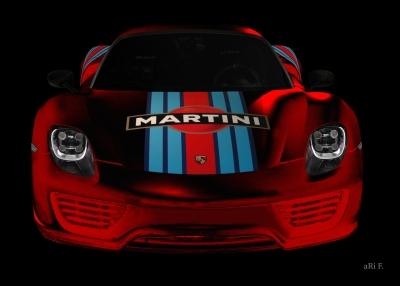 Porsche 918 Spyder Poster in red