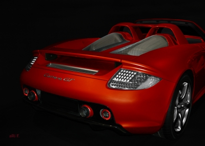 Porsche Carrera GT (Typ 980) in hot red