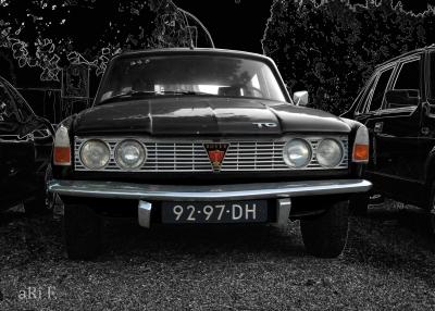 Rover P6 2000 TC Poster black & black