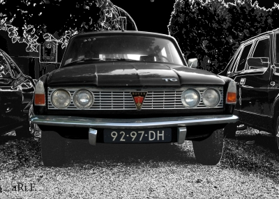 Rover P6 2000 TC Poster in black
