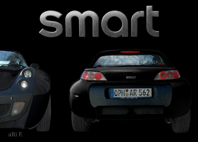 smart Roadster two in black & noir