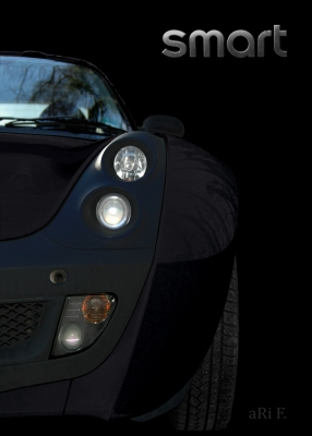 smart Roadster in black & noir