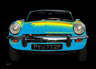 Triumph Spitfire Mk3 in blue yellow-mix