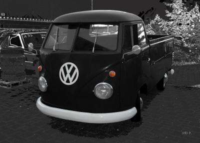 VW Typ 2 T1 Pritschenwagen Poster in black