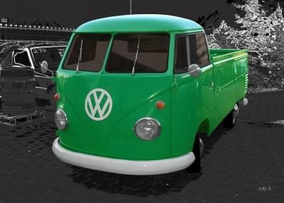 VW Typ 2 T1 Bulli Pritschenwagen in green