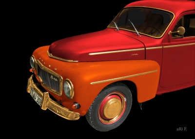 Volvo PV 544 Sport intwo color red-mix