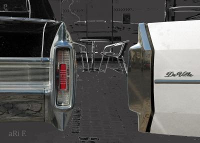 Cadillac Sedan DeVille Cabrio Poster Heckansicht