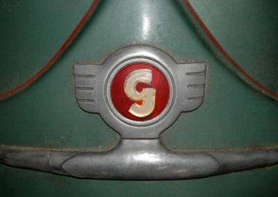 Logo auf Glas Goggo-Roller Poster