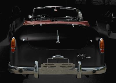 Alvis-Graber TC 108/G Cabrio Heckansicht in black & black