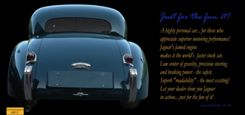 Jaguar XK 120 Just for fun - Poster 80 x 40 cm