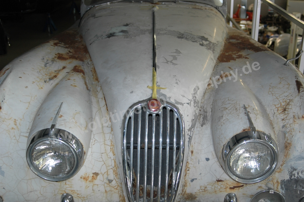 Jaguar XK 140 in Restauration