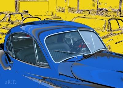 Jaguar XK 120 Oldtimer Poster