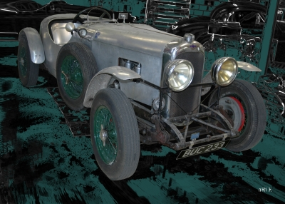 Lagonda Rapier Le Mans in black & green (Originalfoto)