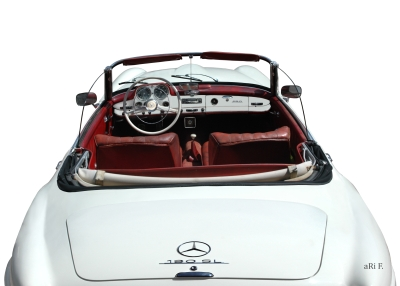 Mercedes-Benz 190 SL in white & white (Originalfarbe)