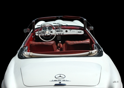 Mercedes-Benz 190 SL in black & white (Originalfarbe)