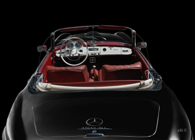 Mercedes-Benz 190 SL in black & black