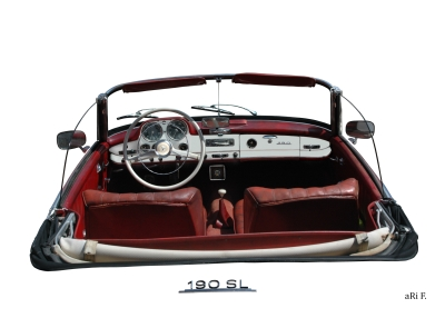 Mercedes-Benz 190 SL Interieur in white pure