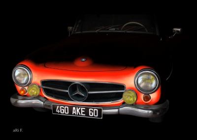 Mercedes-Benz 190 SL in minimalism in red 02