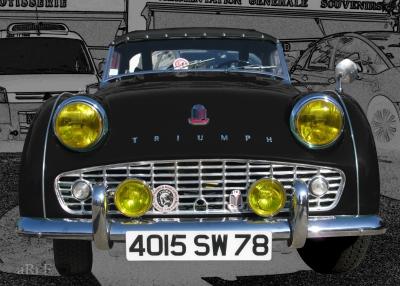 Triumph TR3 in black Ersatzteile