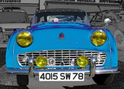 Triumph TR3 Poster in blau kaufen
