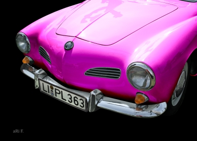 VW Karmann-Ghia-Typ 14 Poster in pink
