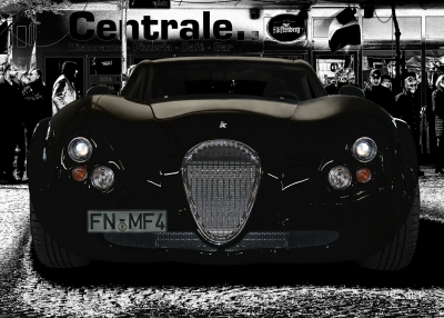 Wiesmann GT FM4 Poster in black & white