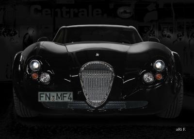 Wiesmann GT FM4 Poster in black & black