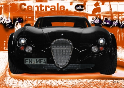 Wiesmann GT FM4 Poster in orange & black