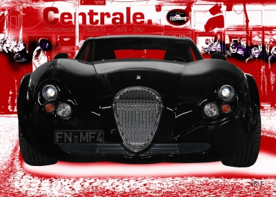 Wiesmann GT FM4 Poster in red & black