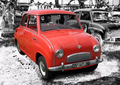 Goggomobil T in black & red (Originalfarbe)