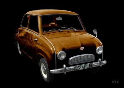 Goggomobil T in black & copper