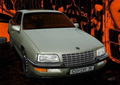 Opel Senator B in black & green metallic (Originalfarbe)