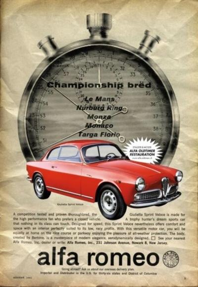 Alfa Romeo Giulietta Sprint 1600 Advert