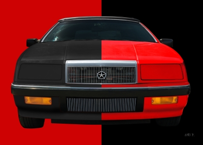 Chrysler LeBaron Convertible Poster in black-red mix 02