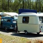 Opel Rekord P1 Kombi mit Wohnwagen