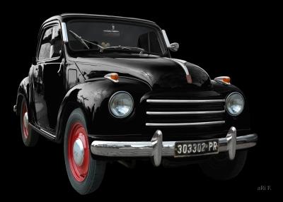 NSU-Fiat Topolino C in black & black