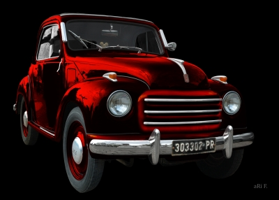 NSU-Fiat Topolino C in black & darkred