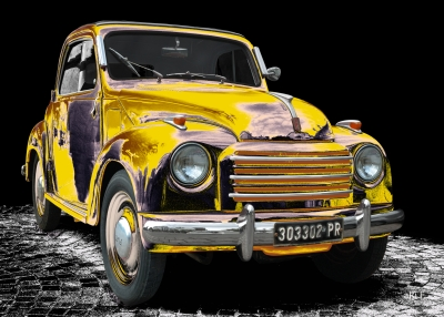 NSU-Fiat Topolino C in black & black-yellow