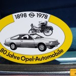 Opel Aufkleber zu 80 Jahre Opel-Automobile