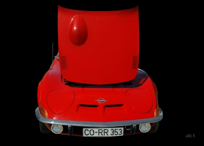 Opel GT in Originalfarbe Poster