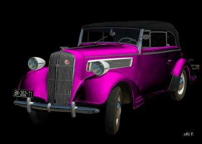 Opel Super 6 Cabriolet in black & lila new created by aRi F.