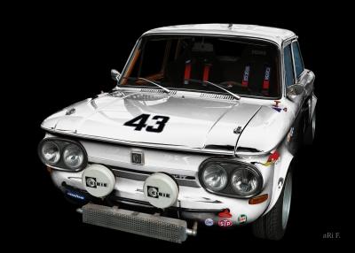 NSU 1200 TT in black & white