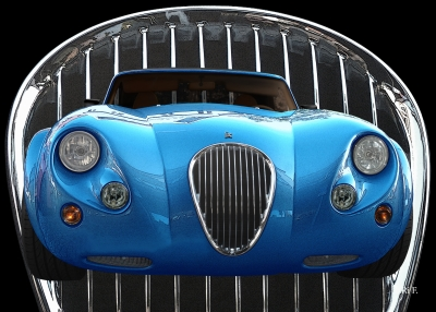 Wiesmann Roadster MF3 Poster in blue color