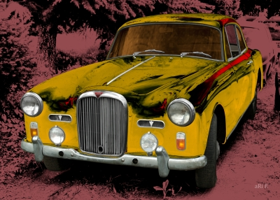 Alvis TD21 three litre for sale in black yellow-mix