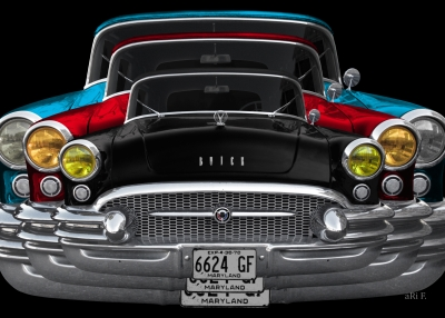 Buick Century Convertible in three pack Poster for sale