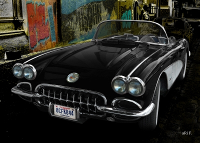 Corvette C1 in street art 03