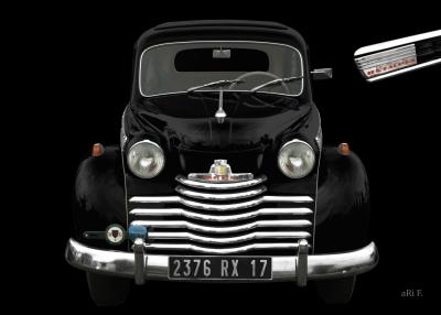 Opel Olympia Baujahr 1950-1953 in black Minimal Art