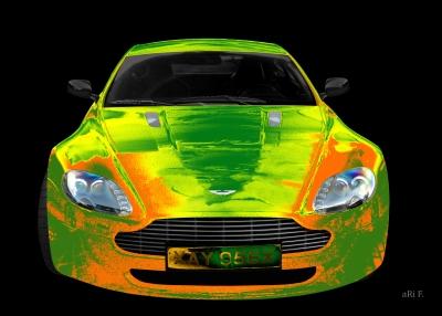 Aston Martin Vantage mit Sonderlackierung aRi F.