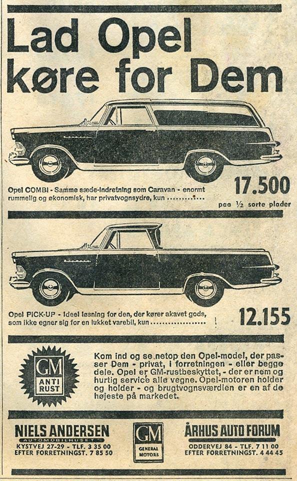 Opel P2 Pickup dänischer Verkaufsprospekt