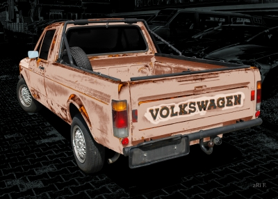 VW Caddy 1 Typ 14D Poster technische Daten